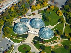 Mitchell Park Domes overhead in Milwaukee, WI, USA is a short sweet trip, not really for little kids but still fun to do on a snowy/rainy day! -nyki