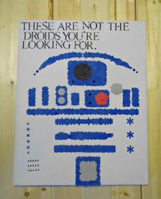 R2-D2 Flower Wall Art Star Wars Movie Quotes by KillerCanvases