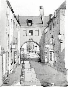 Watercolour Sketch - Trim Bridge, Bath