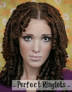 The Freckled Fox : Holiday Hair Week - Tutorial #2: Perfect Ringlets - can be fun to know how to do them