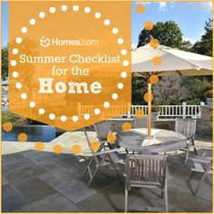 Summer Checklist for Your Home