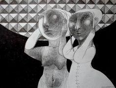 "Saatchi Art Artist Rusudan Khizanishvili; Drawing, ""Solar Eclipse"" #art"
