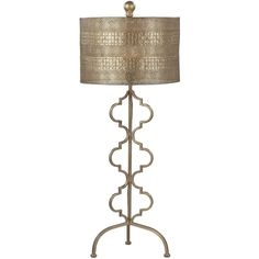 Lazy Susan Metal Table Lamp Gold ($178) ❤ liked on Polyvore featuring home, lighting, table lamps, gold, colored lights, gold light, incandescent lamp, incandescent light and colored light