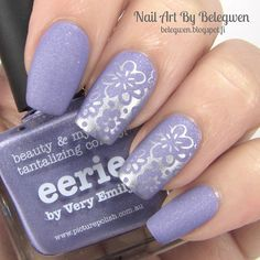 Nail Art by Belegwen: Picture Polish Eerie with matte top coat