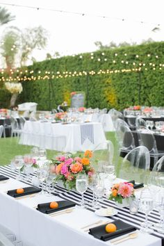 modern wedding reception - photo by Krista Mason Photography http://ruffledblog.com/retro-modern-wedding-in-palm-springs