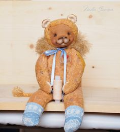 Made to order  Archi the Lion  vintage plush soft 13 inches
