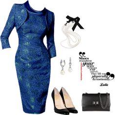"""""""Blue vintage dress"""" by lellelelle on Polyvore"""