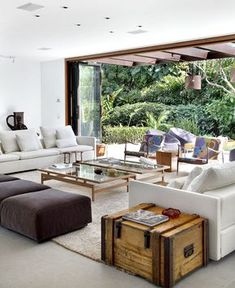 """""""This contemporary house with its many artistic features and fine details captured our attention in this holiday time for its fresh, warm, cheerful Brazilian spirit. The project of complete refurbishing of this colonial style house is held by Gisele Taranto Arquitetura..."""""""