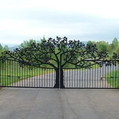 Custom Entry Gate: How incredible! I love this! visit stonecountyironworks.com for more wrought iron designs!