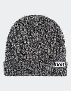 NEFF Heather Fold Beanie Black