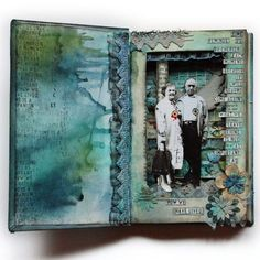 Altered vintage book by Anna Dabrowska at Finnabair; techniques and tips at Bad Girls Project 52 site