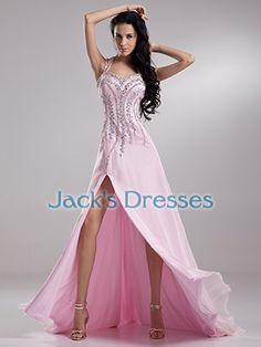 Beaded Crystal Slit A-Line Sleeveless Tank Black Tie Prom Dress - US  144.99 b947471c50e4
