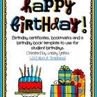Student birthdays are such a great opportunity for you to make your students feel extra special!  This pack includes a few things that can help may...