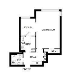 Pequeño Apartamento en Sibyllegatan Estocolmo con 36 m² | Decorar tu casa es facilisimo.com
