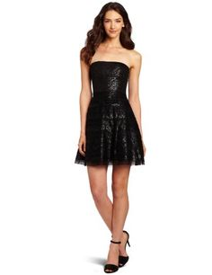 BCBGMAXAZRIA Women's Seri Strapless Sequin Fit and Flare Dress, Black, 0 BCBGMAXAZRIA http://www.amazon.com/dp/B008QZFENO/ref=cm_sw_r_pi_dp_FK9Cub1AT8WRS