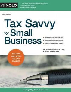 Getting your tax matters on track will free up your time to do what really counts: run a profitable business. Tax Savvy for Small Business can help you create a business tax strategy that can save you