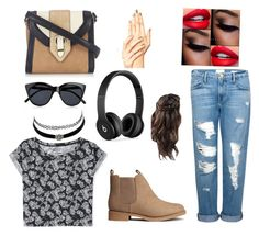 """""""Untitled #9"""" by styleqwin on Polyvore featuring beauty, H&M, Frame Denim, Aéropostale, Beats by Dr. Dre, Le Specs, Charlotte Russe and Wallis"""
