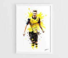 Marco Reus Borussia Dortmund  A3 Art Prints of the by NazarArt, $25.00