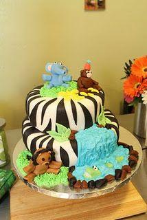 Braden's safari cake for 3rd birthday