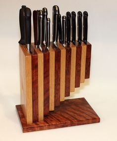 Super kitchen storage rack knife block ideas - Image 10 of 22 Kitchen Items, Kitchen Utensils, Kitchen Knives, Kitchen Storage, Kitchen Organization, Kitchen Sink, Organization Ideas, Küchen Design, Wood Design