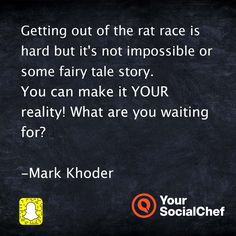Getting out of the rat is hard but not impossible ...
