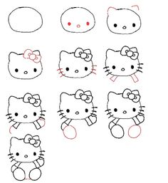 How to Draw Hello Kitty for Kids….