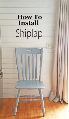How to install shiplap, a step by step guide.