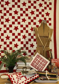 yummy red and white quilts