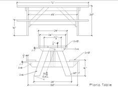 Picknicktafel van hout rechthoek model bouwtekening.