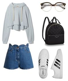 """Ann style"" by miss-dennitsa ❤ liked on Polyvore featuring Valentino and adidas"