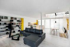 aménagement cuisine minimaliste dans l'aire ouverte moderne