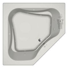 Jacuzzi�60-in L x 60-in W x 21-in H Primo White Corner Drop-in Whirlpool Tub