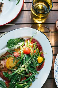Pickled Green beans, tomato and arugula salad by Ashley Rodriguez for west elm