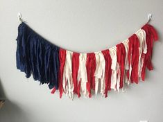 american flag garland / of july garland / flag garland / flag bunting / summer garland / patriotic garland / red cream blue garland - Welcome to our website, We hope you are satisfied with the content we offer. Patriotic Crafts, July Crafts, Holiday Crafts, Holiday Fun, Patriotic Party, Patriotic Bunting, Holiday Parties, Americana Crafts, Patriotic Quilts