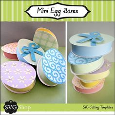 Mini Easter Egg Boxes SVG Files by svgshop on Etsy, $4.50