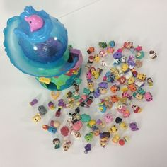 Squinkies Mixed Lot with Ocean Aquarium Gumball Machine Disney Mixed #Squinkies