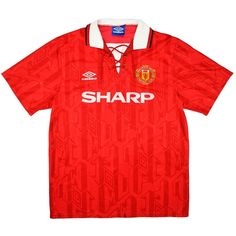 61cf70966 1992-94 Manchester United Home Shirt (Good) S - Classic Retro Vintage  Football Shirts
