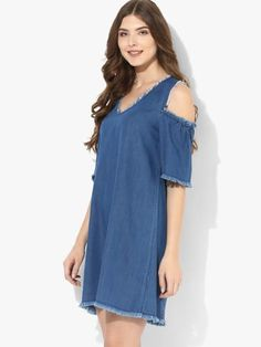 Shop Tobi for Women's Dresses Online - Dresses for Juniors, Petites, Girls and all occasions! Junior Dresses, Cute Dresses, Formal Dresses For Women, Online Fashion Stores, Blue Denim, Dresses Online, Party Dress, Cold Shoulder Dress, High Neck Dress