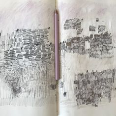 Artist sketchbook, sketchbook pages, collages, drawing exercises, sketch dr Artist Sketchbook, Sketchbook Pages, Fashion Sketchbook, Drawing Sketches, Art Drawings, Art Therapy Projects, Nature Drawing, Sketchbook Inspiration, Mark Making