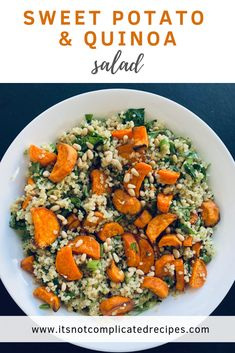 My Sweet Potato and Quinoa Salad is flavour packed, simple to prepare, and full of nutrition. Vegan and gluten-free. My Sweet Potato and Quinoa Salad is flavour packed, simple to prepare, and full of nutrition. Vegan and gluten-free. Easy Salads, Healthy Salads, Healthy Foods, Healthy Chicken, Grilled Chicken, Vegetarian Recipes, Cooking Recipes, Healthy Recipes, Quinoa Salad Recipes Easy