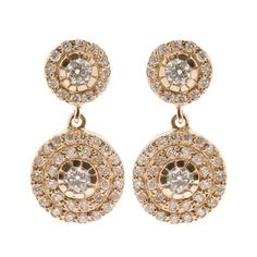 ILEANA MAKRI 'Double Solitaire' 18k Gold and Diamond Earrings ($5,020) ❤ liked on Polyvore