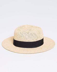 Pull Bear - mujer - gorros y sombreros - sombrero paja - arena -  09830300-I2016    8ab606323bd