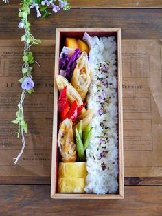 Japanese Lunch Box, Japanese Food, Bento Recipes, Bento Ideas, Bento Box Lunch, Sushi, Aesthetic Food, Cute Food, Snack