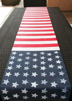DIY Flag Table Runner for the 4th of july