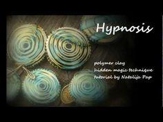 Polymer clay tutorial - Hypnotic Jewelry - http://jewelry.onwired.biz/handmade-jewelry/polymer-clay-tutorial-hypnotic-jewelry/