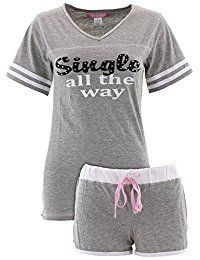 Love Loungewear Juniors Fun Novelty Shorty Pajamas >>> Click image to review more details.