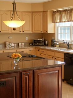 Small Kitchen Layouts showing whit wooden kitchen cabinet and brown wooden kitchen island with marble countertop plus cream pendant lamp on ceiling, Magnificent Small Kitchen Layouts Giving Spacious Looks For Kitchen Design Kitchen Design Color, Kitchen Design Small, House Design Kitchen, Luxury Kitchens, Kitchen Cabinet Design, Kitchen Decor, Painting Kitchen Cabinets, Kitchen Cabinet Layout, Kitchen Layout
