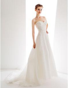 Ligne-A/Princesse Cœur Traîne tulle robe de mariage - EUR € 206.24