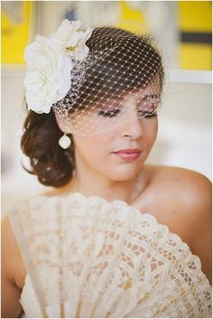 >> Click to Buy << Dots Tulle Wedding Veils High Quality Cheap Short Head Two FlowersBridal Veil Custom Mantilla Wedding Veil With Comb V833 #Affiliate