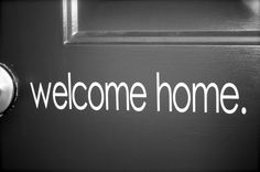 Simple Welcome Home Vinyl by laniercreations on Etsy